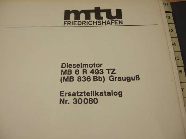 HERBERT METZENDORFF & CO  KG - MTU Manuals and Spare Part List on stock